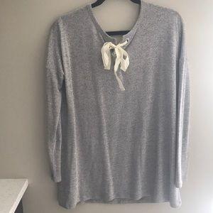 Garage Lace Ribbon back Sweater
